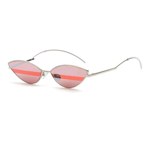 Premium Chic Narrow Oval Shape with Metal Frame Sunglasses gallery 6
