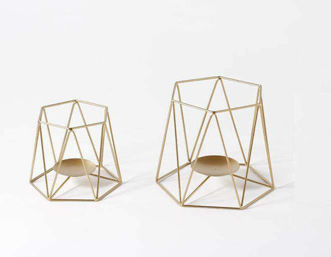 Metal Grid Candle Holder gallery 6