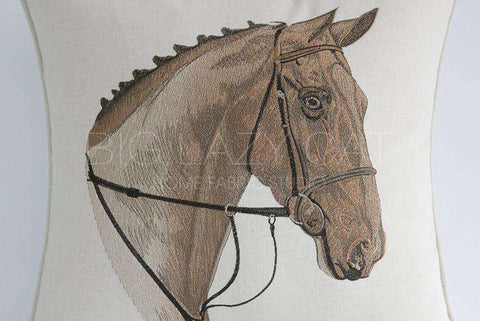 British Royal Horse Pattern Pillow Cover gallery 5