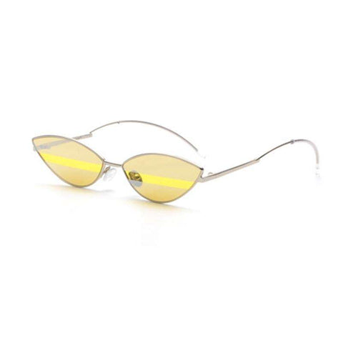 Premium Chic Narrow Oval Shape with Metal Frame Sunglasses gallery 7
