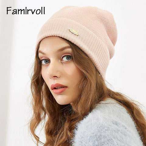 Solid-color Wool-blend Beanie Hat gallery 9