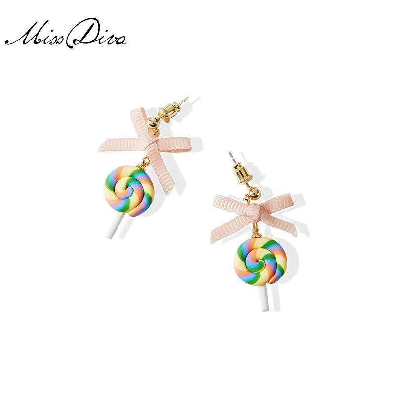Lovely Bow-Tie Lollipop Earrings