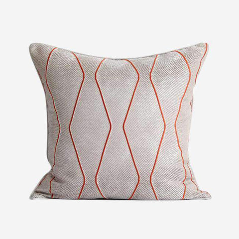 Geometric Embroidery Pattern Pillow Cove gallery 2