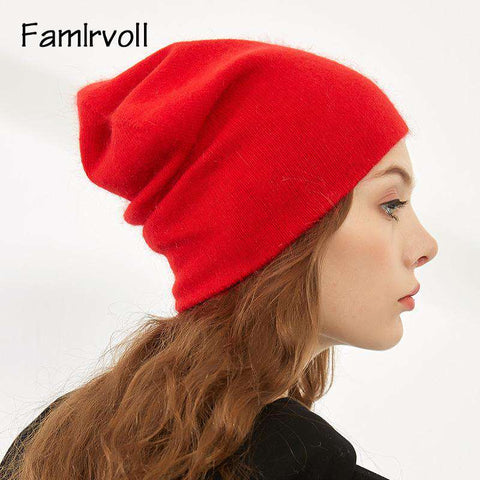 Women's Solid-color Stretch Beanie Hat gallery 11