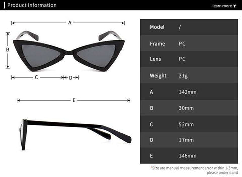 Vintage Butterfly TriangleShape Simple Sunglasses gallery 4