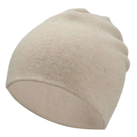 Women's Solid-color Stretch Beanie Hat gallery 2