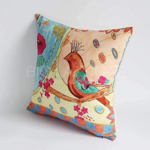 Hand Painted Watercolor Garden Pillow Cover gallery 6