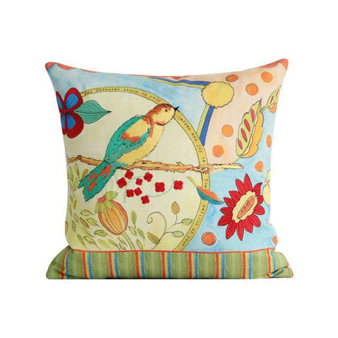 Miracle Garden Painted Pillow Cover gallery 1