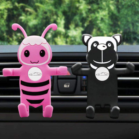 Cute Animal Shaped Cell Phone Holder For Car Auto-Clamping Air Vent Car Mount Holder