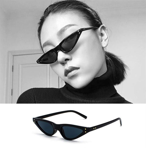 Vintage Narrow Cat Eye With Plastic Frame Sunglasses gallery 7