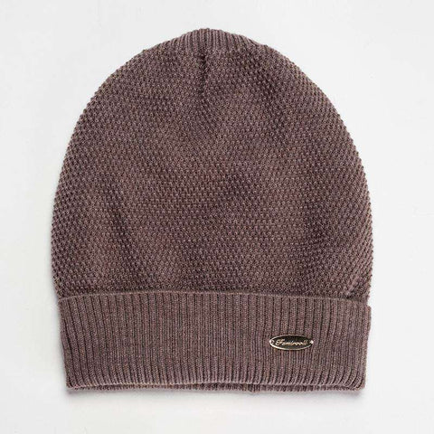 Solid-color Wool-blend Beanie Hat gallery 6
