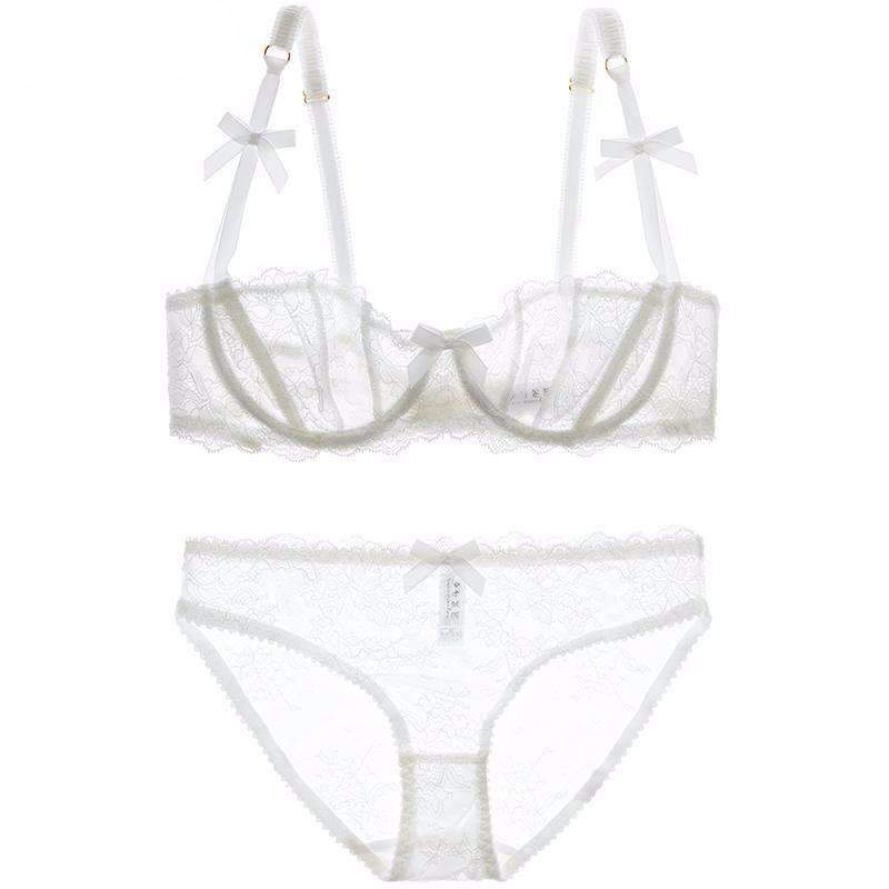 Women's Sexy Sheer Bra and Panty Set