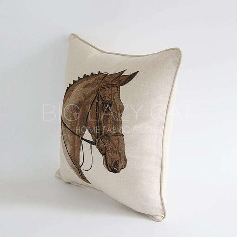 British Royal Horse Pattern Pillow Cover gallery 3