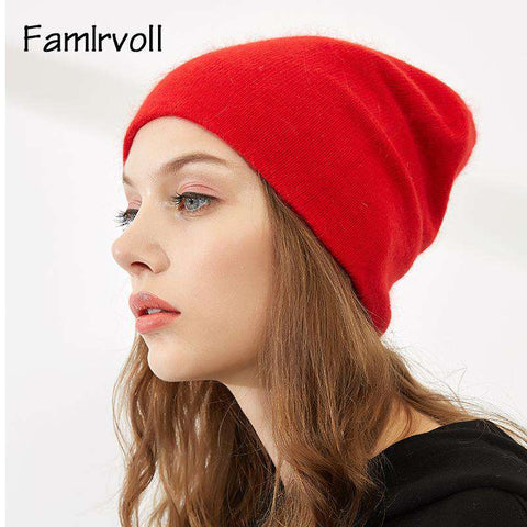 Women's Solid-color Stretch Beanie Hat gallery 8