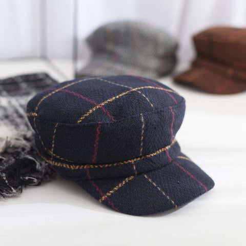 Winter Vintage Checked Hat gallery 5