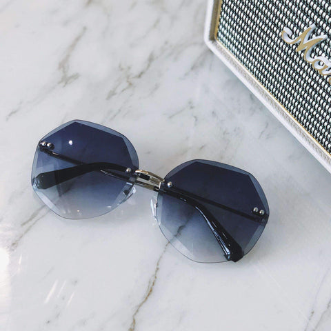 Chic Circle Shape Resin Lens With Cut Side Sunglasses gallery 5