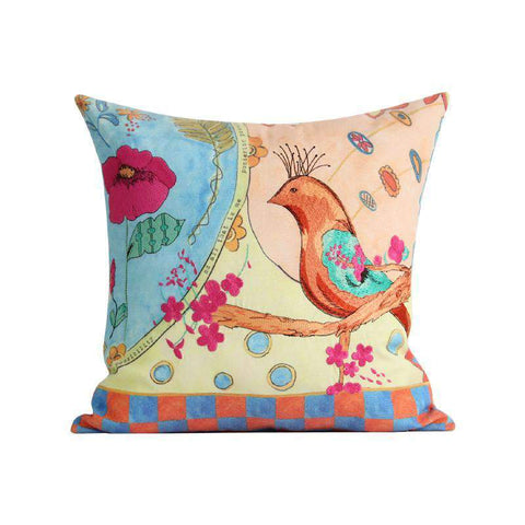 Hand Painted Watercolor Garden Pillow Cover gallery 1