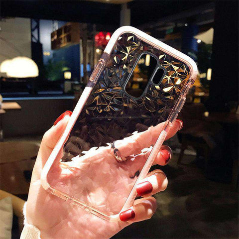 Transparent Diamond Phone Case for Samsung gallery 4