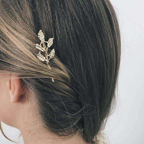 Leaf Shaped Decorated Hair Clip gallery 5