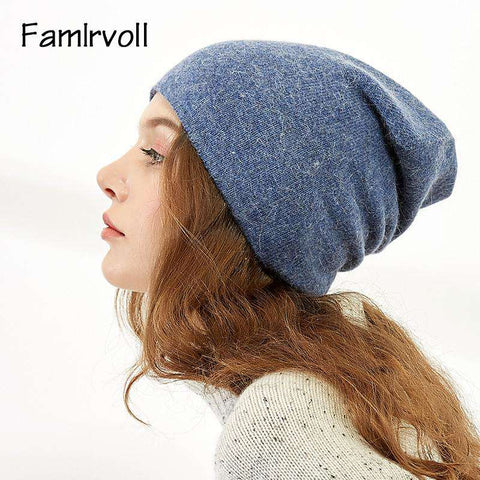 Women's Solid-color Stretch Beanie Hat gallery 9