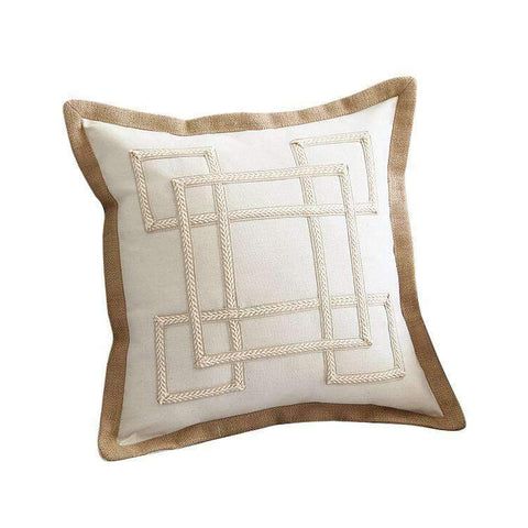 Nordic Embroidery Linen Pillow Cover gallery 1