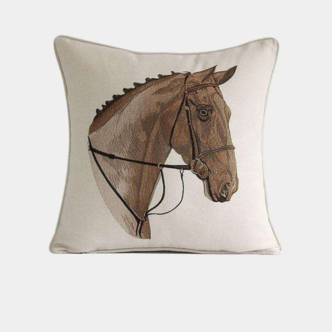 British Royal Horse Pattern Pillow Cover gallery 1