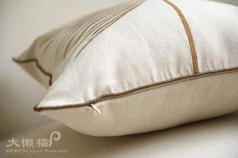 Dandelion Wish Embroidered Linen Pillow Cover gallery 3