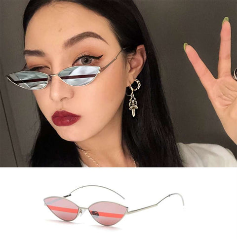 Premium Chic Narrow Oval Shape with Metal Frame Sunglasses gallery 8