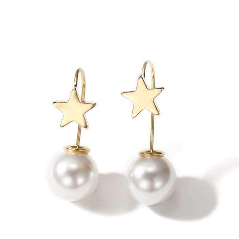 Chic Star Pearl Earrings