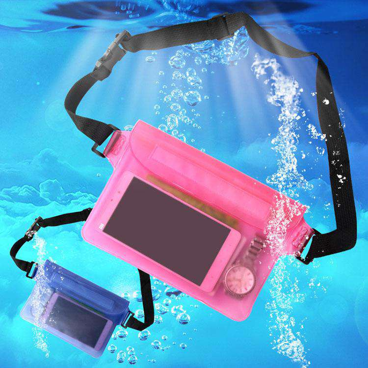 Waterproof Pouch Bag Case Waist Strap for Beach, Swim, Boating, Kayaking, Hiking, Etc - Protect Iphone, Cellphone, Camera, Cash, Mp3, Passport, Document From Water, Sand, Snow, Dust and Dirt
