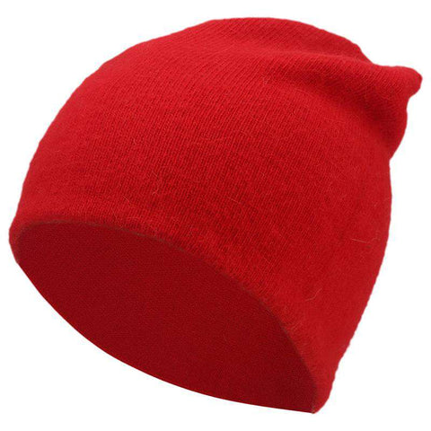 Women's Solid-color Stretch Beanie Hat gallery 4