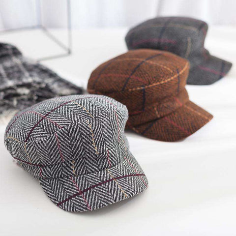 Winter Vintage Checked Hat gallery 9