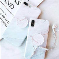 Marble Effect iPhone Case With Phone Holder
