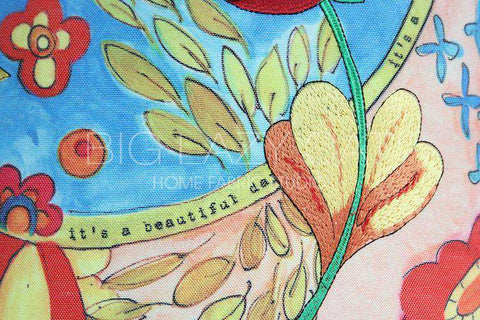 Beautiful Day Painted Pillow Cover gallery 2