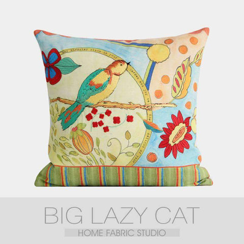 Miracle Garden Painted Pillow Cover gallery 7