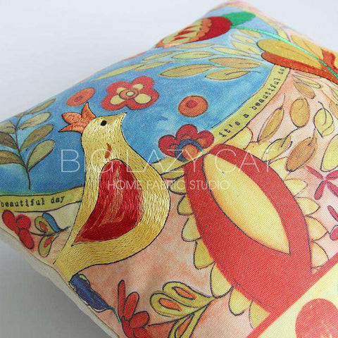 Beautiful Day Painted Pillow Cover gallery 3