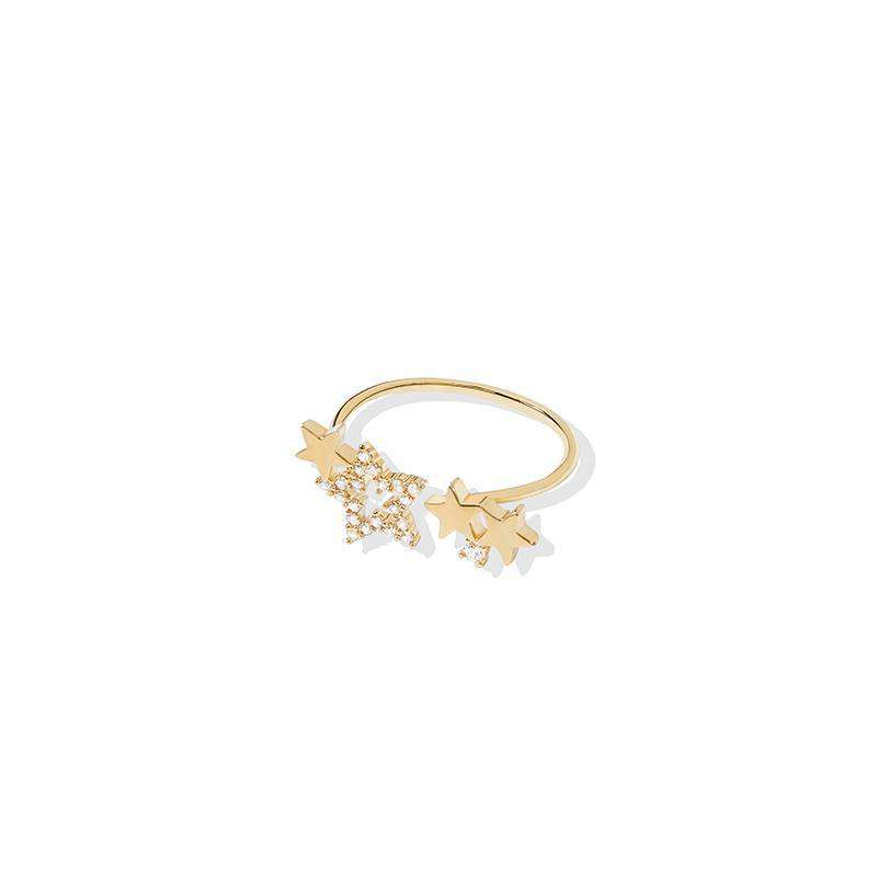 Stars Adjustable Ring - Gold