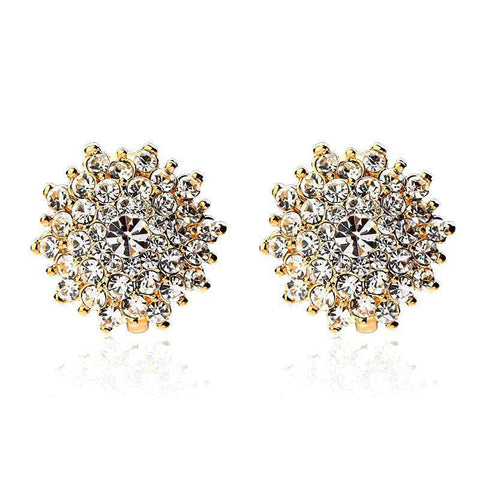 Delicate Rhinestone Stud Earrings Ear Cuff Elegance VIntage Style