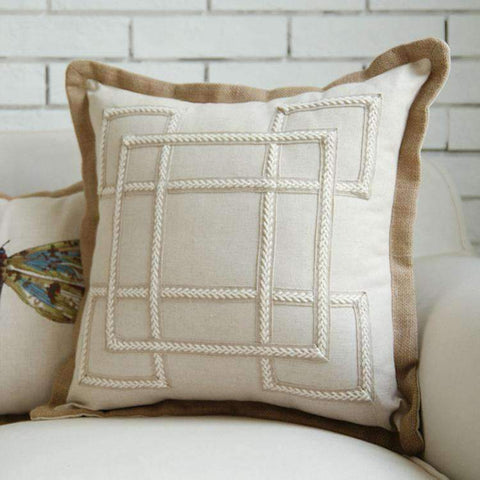 Nordic Embroidery Linen Pillow Cover gallery 2