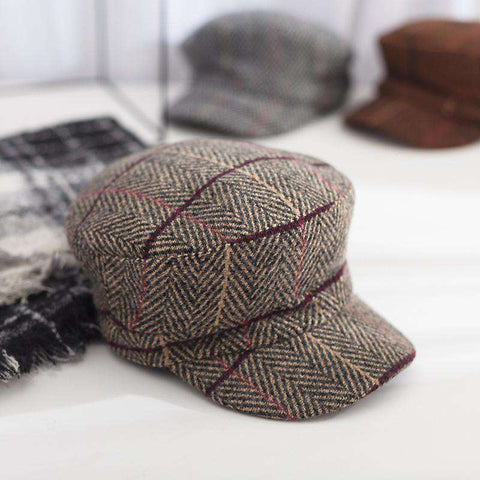 Winter Vintage Checked Hat gallery 3