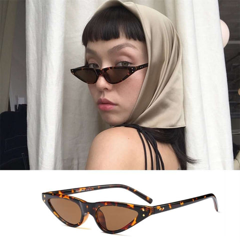 Vintage Narrow Cat Eye With Plastic Frame Sunglasses gallery 5