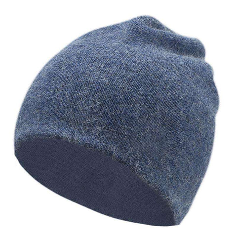 Women's Solid-color Stretch Beanie Hat gallery 5