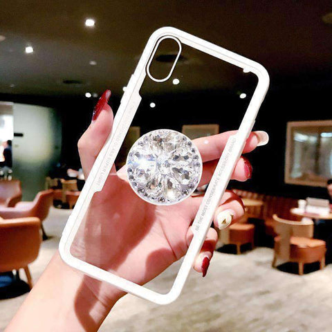 Glitter Cute Phone Case for Samsung with Diamond Phone Holder gallery 7