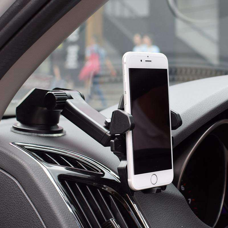 3-in-1 Universal Car Phone Mount - Black