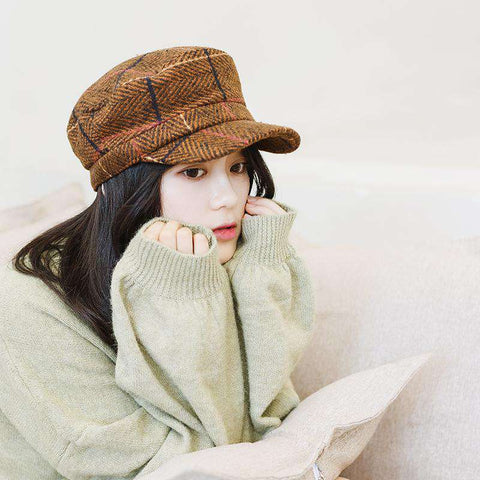 Winter Vintage Checked Hat gallery 6
