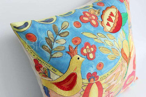Beautiful Day Painted Pillow Cover gallery 5