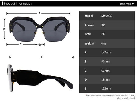 Chic Mirrored Flat Lens Wide Frame Sunglasses gallery 5