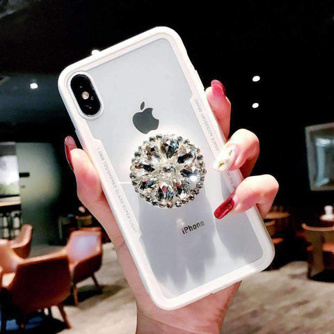 Glitter Cute Phone Case for Samsung with Diamond Phone Holder gallery 2