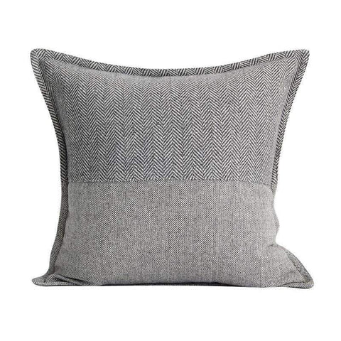 Monochrome Houndstooth Woven Pillow Cover gallery 1