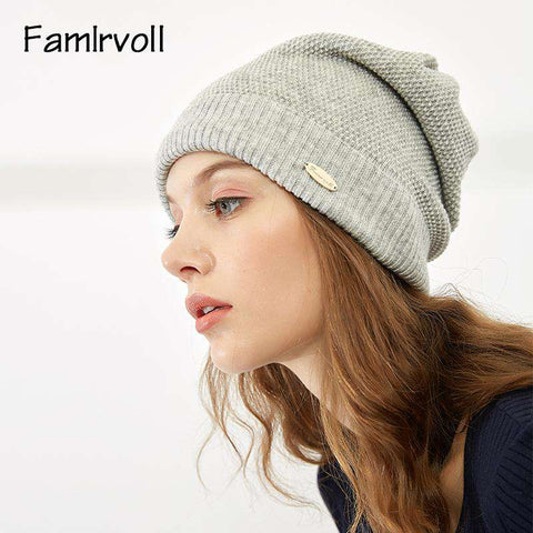 Solid-color Wool-blend Beanie Hat gallery 8
